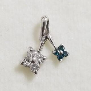 K14WG ブルーダイヤモンドのペンダントトップ(チャーム)