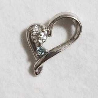 K18WG ブルーダイヤモンドのペンダントトップ(チャーム)