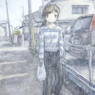 くらやえみ Passing by 版画サイン入り カイカイキキ(版画)