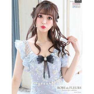 ROBE - スパンコール刺繍レース×フリルスリーブタイトミニドレス