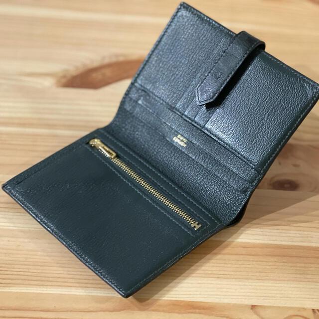 Hermes(エルメス)のHERMES エルメス ベアンコンパクト グリーン オーストリッチ レア メンズのファッション小物(折り財布)の商品写真
