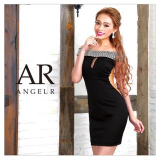 エンジェルアール(AngelR)のangelR ビジューオフショルダードレス(ミニドレス)