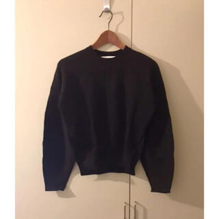 エンフォルド(ENFOLD)のenfoldエンフォルド黒ブラッククルーネック立体袖デザインニット(ニット/セーター)