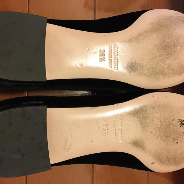 miumiu(ミュウミュウ)の定価は120,000円位,美品MiuMiu靴ほぼ新品と同じです レディースの靴/シューズ(ローファー/革靴)の商品写真