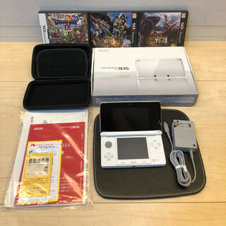 ニンテンドー3DS(ニンテンドー3DS)の【すぐに遊べます】ニンテンドー3DS 本体(アイスホワイト)&ソフト3本(携帯用ゲーム機本体)