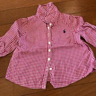 ポロラルフローレン(POLO RALPH LAUREN)のラルフローレン チェックシャツ サイズ80~90くらい 12M(シャツ/カットソー)