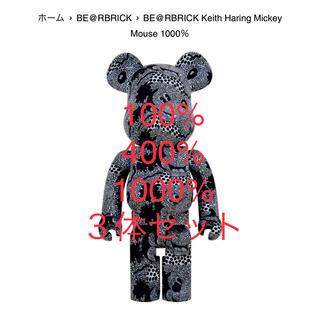 メディコムトイ(MEDICOM TOY)のBE@RBRICK KeithHaring MickeyMouse 3体セット(その他)