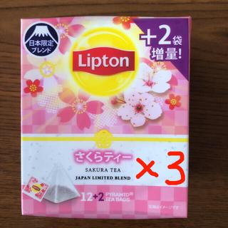 ユニリーバ(Unilever)のリプトン さくらティー 14袋(+2袋増量品)×3箱 合計42袋(茶)