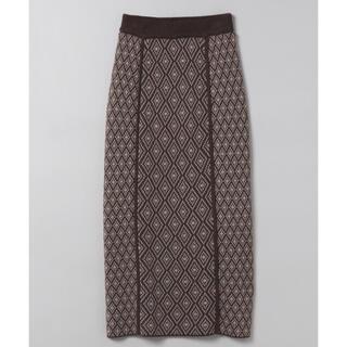 ジーナシス(JEANASIS)のJEANASIS 7Gキカガラナロースカート(ロングスカート)