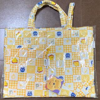 ディズニー(Disney)の【未使用】プーさん 通園通学バッグ3点セット(通園バッグ)