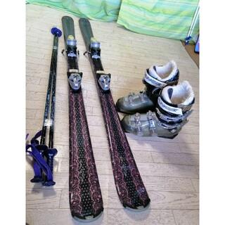 エラン(Elan)の152cm◆ELANレディースカービングスキー◆靴LENGE25cmセット(板)