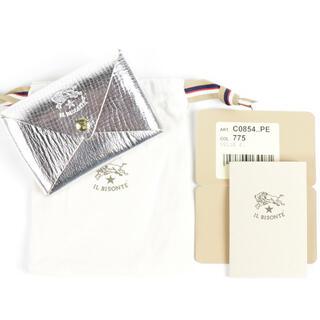 イルビゾンテ(IL BISONTE)の新品 イルビゾンテ カードケース オリガミ 名刺入れ 二つ折り パスケース 人気(名刺入れ/定期入れ)