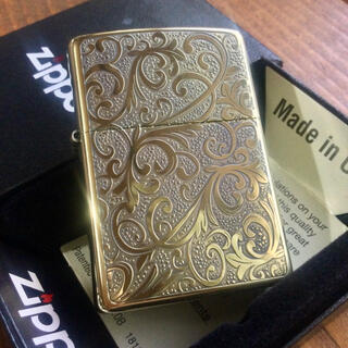 ジッポー(ZIPPO)の新品 Zippo モンタナアラベスク 1 BS 真鍮イブシ 唐草 両面(タバコグッズ)