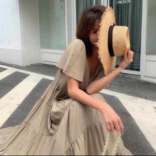 フレイアイディー(FRAY I.D)のbirthdaybash モカ茶❤︎beigeワンピース(完売品)(ロングワンピース/マキシワンピース)