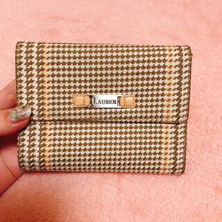 ラルフローレン(Ralph Lauren)の【ラルフローレン】千鳥柄 折り財布 ベージュ(財布)