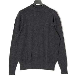 ジョンスメドレー(JOHN SMEDLEY)のルトロワ Letroyes グレーモックネックセーター 新品(ニット/セーター)