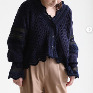 マメ(mame)のMameKurogouchi Lace Knitting Cardigan(カーディガン)