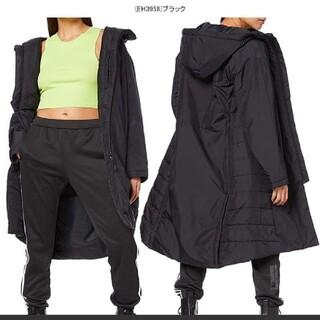 アディダス(adidas)の新品 アディダス ロングコート中綿コートベンチコートロング M ブラック(ロングコート)