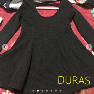 デュラス(DURAS)のロング カットソー チュニック DURAS(Tシャツ/カットソー(七分/長袖))