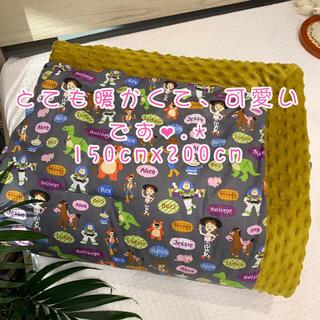 ディズニー(Disney)の⚠️今年新素材大人気❤️可愛い♥️裏側ボアの暖かいキャラクター毛布ブランケット(毛布)