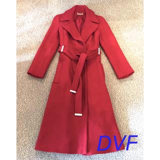 ダイアンフォンファステンバーグ(DIANE von FURSTENBERG)の断捨離セール 美品 ダイアンフォンファステンバーグ DVF  赤 ロングコート(ロングコート)
