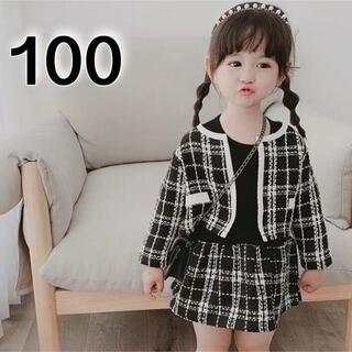 フォーマル ワンピース ジャケット セットアップ 100 黒 入園 入学 結婚式(ドレス/フォーマル)
