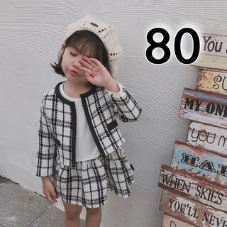 フォーマル 女の子 80 キッズ セットアップ ワンピース 入園 入学 春 長袖(ワンピース)