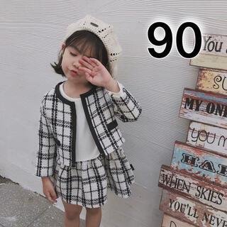 フォーマル 女の子 90 白 セットアップ 入園 入学 卒園式 正装 スーツ 春(ドレス/フォーマル)