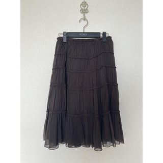 フォクシー(FOXEY)のフォクシー foxey チュール スカート 40 (ひざ丈スカート)