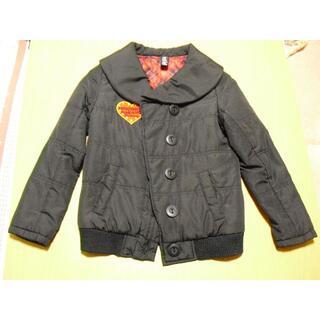 ヒロミチナカノ(HIROMICHI NAKANO)のジャンパー 女の子サイズ140BK&赤チェック柄(ジャケット/上着)