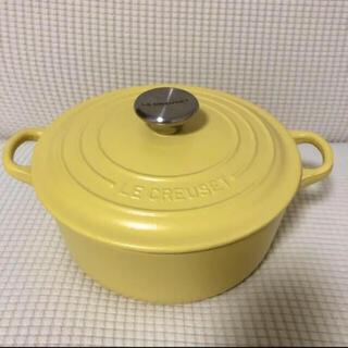 ルクルーゼ(LE CREUSET)のルクルーゼ ル・クルーゼ ココットロンド 20cm ミモザ(鍋/フライパン)