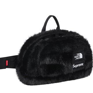 シュプリーム(Supreme)のSupreme North Face Faux Fur Waist Bag 黒(ボディーバッグ)