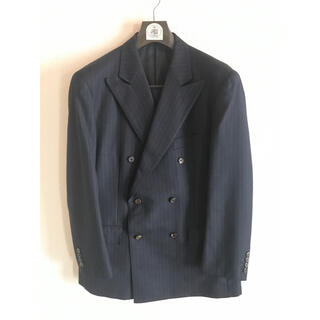ジェイプレス(J.PRESS)のJ.Press スーツ ダブル A7 ネイビーストライプ ハンガー付(セットアップ)