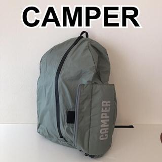 カンペール(CAMPER)のカンペール CAMPERリュックサック新品同様 ライトグリーン×黒 折りたたみ(リュック/バックパック)