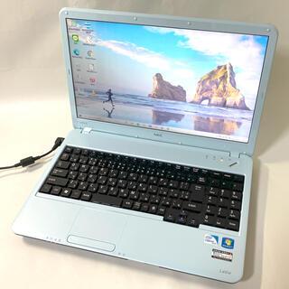 エヌイーシー(NEC)の【可愛いブルー】早い者勝ち/Win10/4GB/HDD320GB(ノートPC)