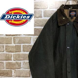 Dickies - 【ディッキーズ】 オイルドジャケット イングランド製 グリーン チェックスナップ