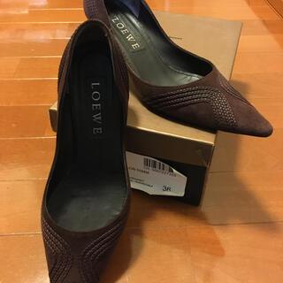ロエベ(LOEWE)のロエベワイン色,スエード(ローファー/革靴)