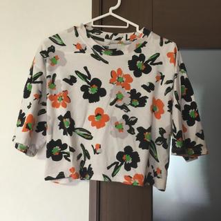 スライ(SLY)のSLY☆花柄ショートTシャツ(Tシャツ(半袖/袖なし))