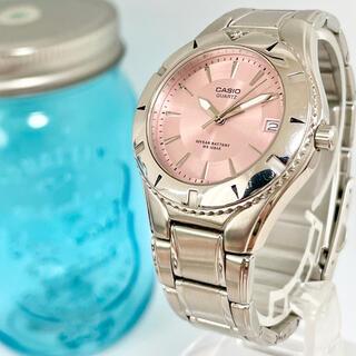 カシオ(CASIO)の6 カシオ時計 レディース腕時計 新品電池 ピンク シンプル(腕時計)