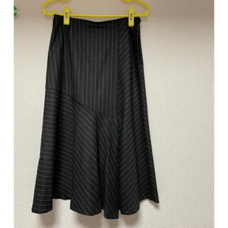 ロートレアモン(LAUTREAMONT)のアシンメトリーストライプスカート(ひざ丈スカート)