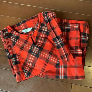キッドブルー(KID BLUE)のキッドブルー 赤のチェックパジャマ レッド 美品(パジャマ)