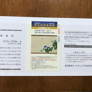ハンシンタイガース(阪神タイガース)の阪急電車 阪神電車 乗車券 回数券 25回分(鉄道乗車券)