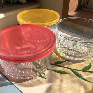 昭和レトロ 曽我ガラス 小鉢3個 クリアガラス(ガラス)