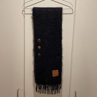 LOEWE - LOEWE Buttons scarf in mohair and wool