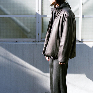 コモリ(COMOLI)の【21ss/新品】comoli ディアスキン インサレーションジャケット(レザージャケット)
