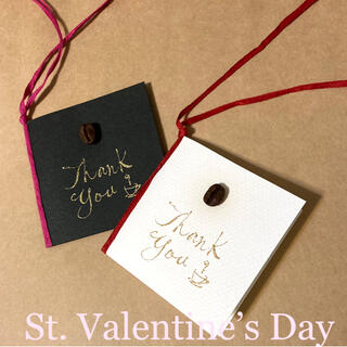 コーヒー豆のメッセージカード5枚セット(カード/レター/ラッピング)