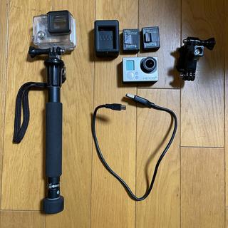 ゴープロ(GoPro)のGo Pro Hero3+ バッテリー×2個付属(ビデオカメラ)