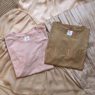 ジーユー(GU)の【GU】ELLEコラボ/グラフィックT【ピンク】(Tシャツ(半袖/袖なし))