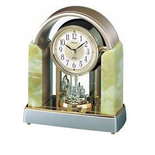 セイコー(SEIKO)のメロディスワロフスキークリスタル回転電波クロック/電波置時計(置時計)