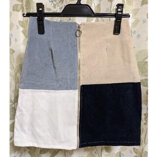 アルシーヴ(archives)のarchives ジップアップタイトスカート(ミニスカート)